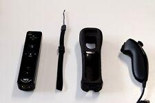 Original Nintendo Wii Remote Motion Plus Controller mit Nunchuck Schwarz