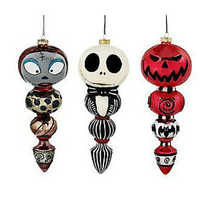 551b4ccaf3562 Image is loading NIGHTMARE-BEFORE-CHRISTMAS-DISNEY-3-PC-ORNAMENT-SET