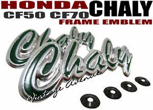 HONDA CHALY CF50 CF70 SIDE FRAME EMBLEM 1PAIR S-PK