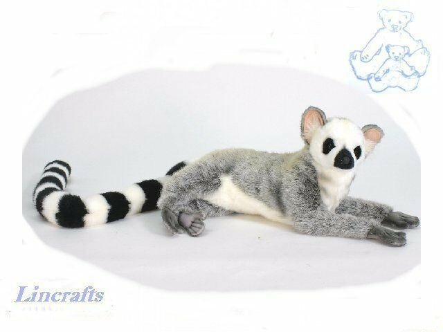 Hansa Lying Ringtail Lemur 5831 Soft Toy Sold by Lincrafts Established 1993