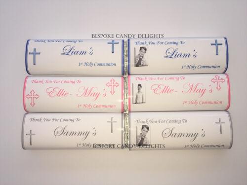 faveurs sc 40 personnalisé 1st sainte communion chocolat bar wrappers faveur