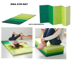 Ikea Plufsig Folding Gym Mat Exercise Kids Child Play Soft Green