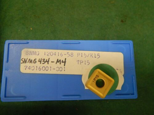 3 SECO CARBALOY SNMG 434 M4-58 TP15 Carbide Inserts
