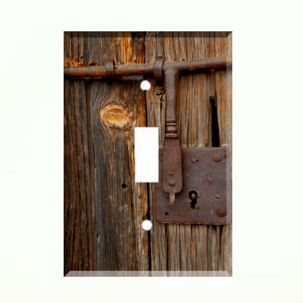 Rustic Barn Door Light Switch Plate Wall Cover Country Farm Decor