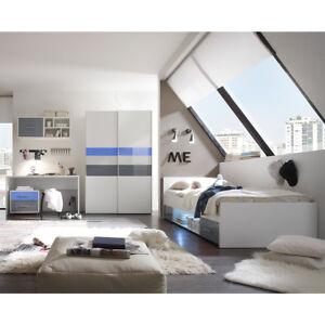 Jugendzimmer set 2 colori kinderzimmer komplett in wei - Jugendzimmer blau ...