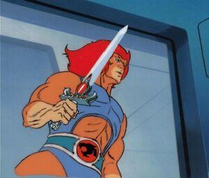 Thundercats Production Anime Cel Lion-O Sword of Omens Rankin-Bass 1985 RARE!