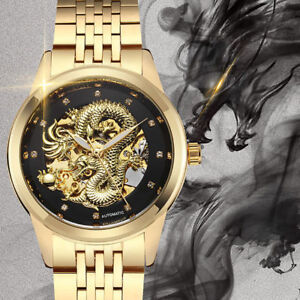 Image result for Luxury Dragon Skeleton Automatic Mechanical Watches For Men