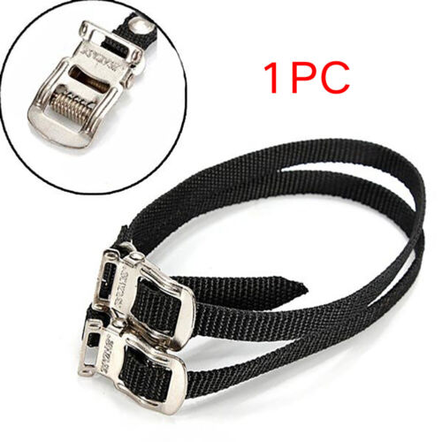 Toe Straps Track Road Bike Bicycle Toe fit Pedal Clips Straps Replacement Black