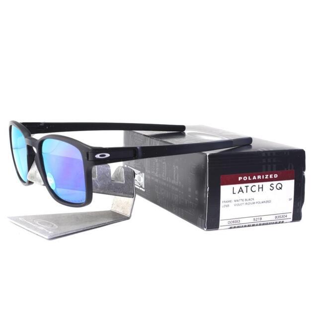 f8a5783bdf Oakley OO 9353-04 POLARIZED LATCH SQ Matte Black Violet Iridium Mens  Sunglasses