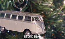 Custom Volkswagen T1 T2 Samba Bus Christmas Ornament VW Van 1/64th Camper Kombi