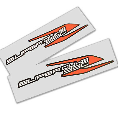 Superduke1290 Custom Motorcycle decals graphics,orange chrome on black  x 2 PCS