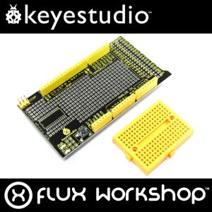 Keyestudio-Arduino-MEGA-Prototype-Shield-KS-005-Breadboard-Flux-Workshop