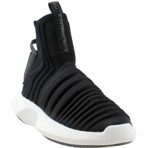 finest selection 40d7f 070f8 Image is loading adidas-Crazy-1-ADV-Sock-Primeknit-Sneakers-Black-
