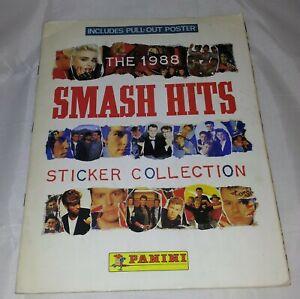 Vintage-Panini-Smash-Hits-1988-Sticker-Album-100-Complete-Includes-Poster