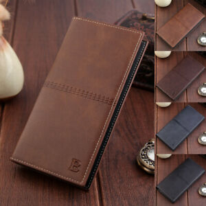 New-Mens-PU-Leather-Long-Wallet-Bag-Bifold-Purse-Cell-Phone-Card-Holder-Clutch