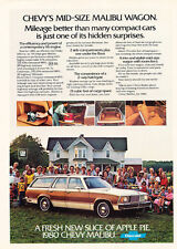 1980 Chevrolet Malibu Wagon - Original Car Advertisement Print Ad J170