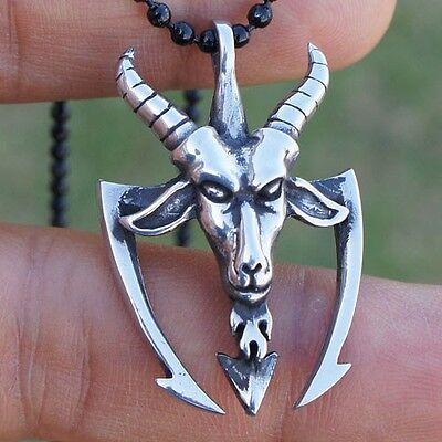 Pinchfork poiuyt blivet Baphomet Lucifer Goat Laveyan Satan Devil Pewter Pendant