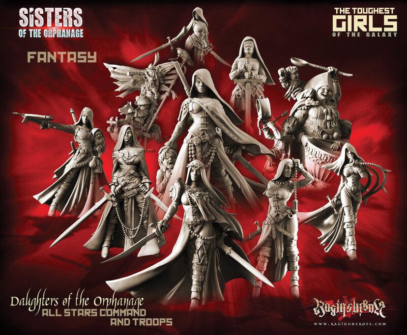Raging héroes hijas de el orfanato Pack-todos los 10 estrellas comando y tropas