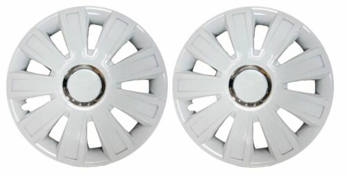 """COPPIA di Bianco 13/"""" Caravan rifiniture ruota Hub Caps per COCCHIERE Amara 480-4 1999"""