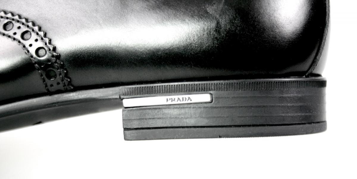 SCARPE PRADA LUSSO 2EA118 NERO NUOVE 9,5 43,5 44 uomo Scarpe classiche da uomo 44 fd23c3