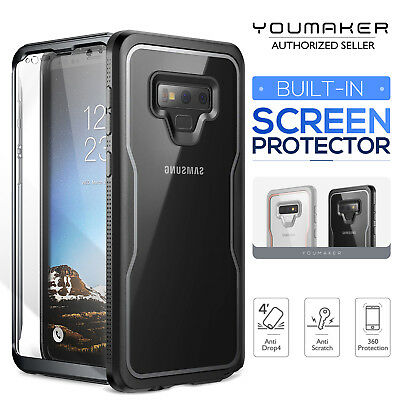 new concept 2a8c5 99c6e YOUMAKER Samsung Galaxy Note 9 Crystal Clear Shockproof Full-body Case  Cover | eBay