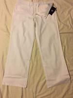 Gloria Vanderbilt Short & Avg: Women Mid Rise, Trouser Style Long Pants: White
