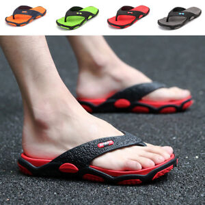 Mens-Sandals-Flip-Flops-Thongs-Casual-Summer-Outdoor-Sport-Shower-Slippers-Beach