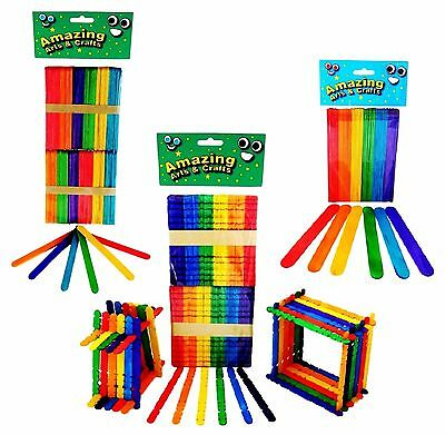 Lolly Lollipop Building Jumbo Craft Sticks Multi Pack Assorted Colours 260 pcs