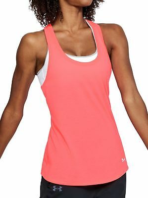 Ernst Under Armour Threadborne Streaker Womens Running Vest Tank Top - Pink