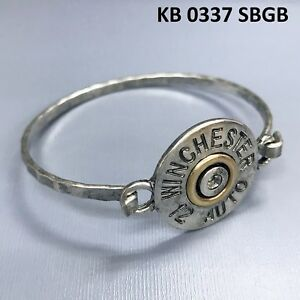 c786f25ed08 Image is loading Silver-Finished-WINCHESTER-12-AUTO-Engraved-Bullet-Shell-