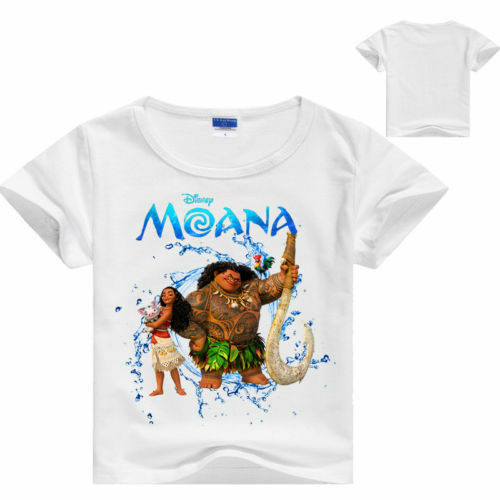 Kids Boys Girls Summer Moana T-Shirts Cartoon Tee Short Sleeve Casual Tops 3-10Y