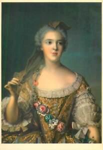 Postcard-Madame-Sophie-de-France-fille-de-Louis-XV-portrait-by-JM-Nattier