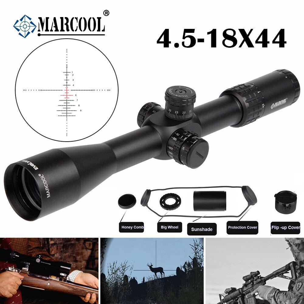 MARCOOL EVV 4.5-18X44 FFP mira para rifle Táctico Iluminado Mira Telescopica Caza