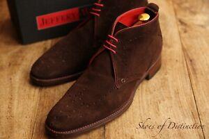 Men's Jeffery West Brown Suede Lace Up Brogue Boots UK 7.5 US 8.5 EU 41.5