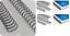 RILEGATURA SCATOLA 100 SPIRALI METALLO 34 ANELLI PASSO 3:1 DIAMETRO 6,3 MM