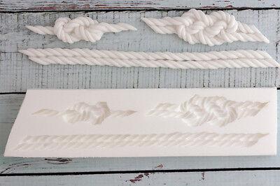 Silicone Mould, nautical knots & rope knot border Ellam Sugarcraft M041