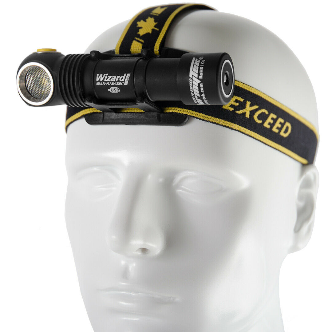 ARMYTEK Wizard Pro v3 Magnetic USB LED Headlamp Head Lamp CREE XHP50 IP68 Battery