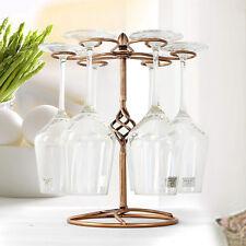 Red Wine Glass Rack Holder Upside Down Hanging Cup Holder 6 Hooks Bronze Decor