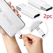 2 pcs/Lot USB C tipo a Micro Datos Cargador Adaptador para LG G5/ Nexus 6P/5X