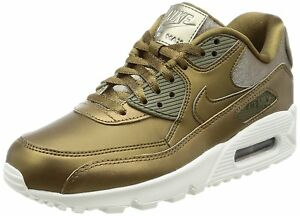 reputable site 1cb14 74f3b Image is loading Nike-Air-Max-90-Premium-Metallic-Bronze-Metallic-