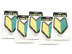 5-PACK-Wakaba-Japan-Young-Leaf-Apple-Scent-JDM-Non-Toxic-Car-Air-Freshener-Tree