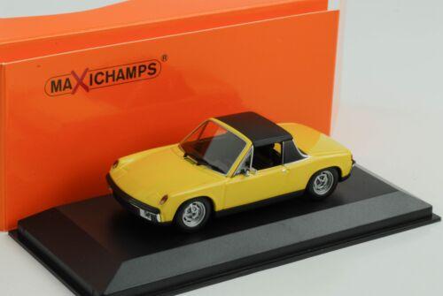 PORSCHE 914//4 VW Volkswagen giallo 1:43 Minichamps MAXI Champs