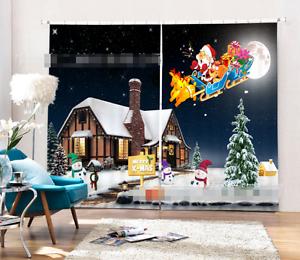3D Santa Claus 74 Blockout Foto Impresión De Cortina Cortina Para Ventana De Tela au