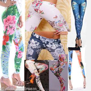 Leggings-pantacollant-fuseaux-florale-colorati-fantasia-stampati-disegnati-nuovi