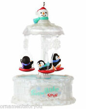 Hallmark 2012 Snowflake Spin Penguins Ornament Debut Reveal