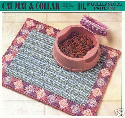 cats Cat Mat /& Collar ~    Plastic Canvas Pattern  ~ cute for kitties