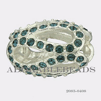 d0ea7014be7c8 Authentic Chamilia Silver Crystal Glistening Meander Blue Bead 2083 ...