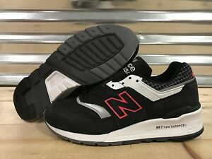 on sale 43326 83eba Details about New Balance 997 Suede Retro Running Shoes Black White Red  Silver SZ ( M997CR )
