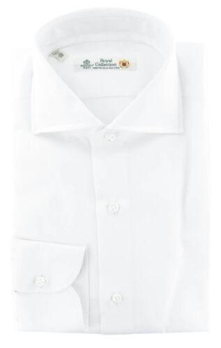 242 Extra Slim $600 Luigi Borrelli White Solid Cotton Shirt