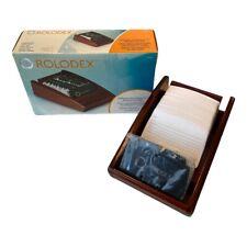 Rolodex Mahogany Wood Tones Covered Business Card Tray 1734241 Organization